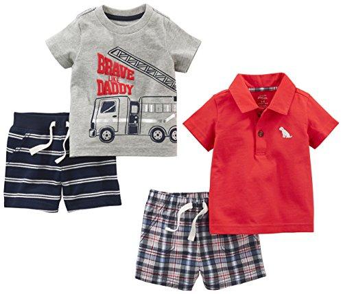 a4d76bb0c Simple Joys by Carter s Baby Boys  4-Piece Playwear Set